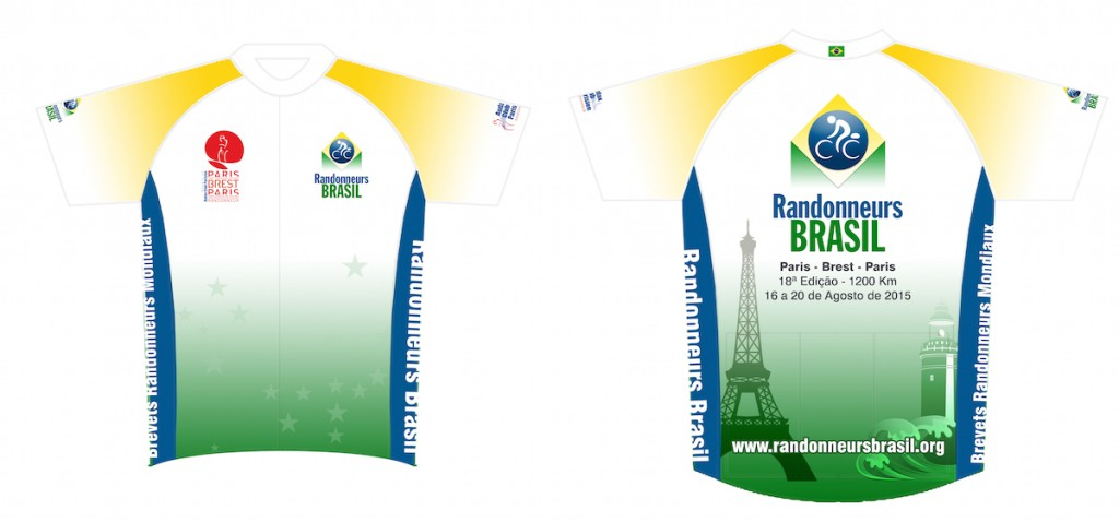 MODELO CAMISA MANGA CURTA PBP2015 - RANDONNEURS BRASIL